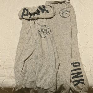 Hoodie sweatshirt and Capri sweatpants